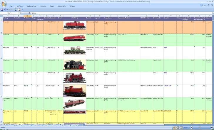 Bild 1: Die fertige Datenbank (Übersicht)